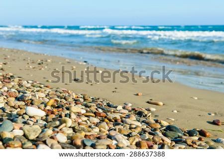 Pebbly beach - stock photo