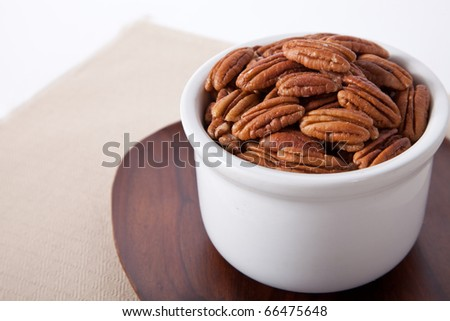 Pecans picture with room for copy - stock photo