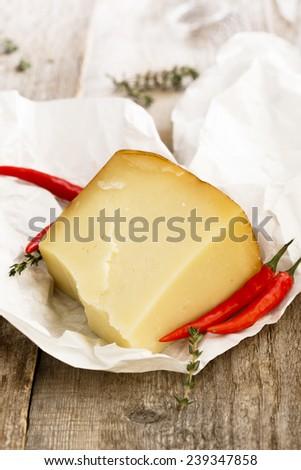 Pecorino cheese - stock photo