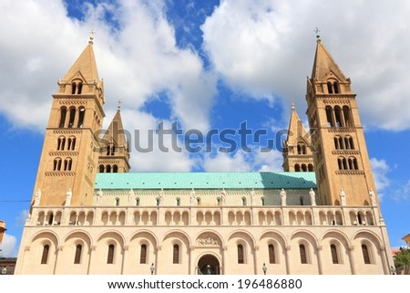 Pecs, Hungary. City in Baranya county. Romanesque Cathedral.