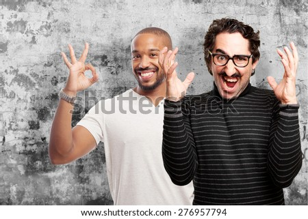 pedantic man angry expression - stock photo