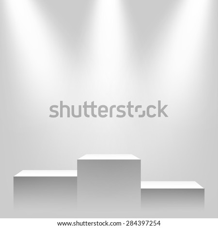Pedestal with sources of light. - stock photo