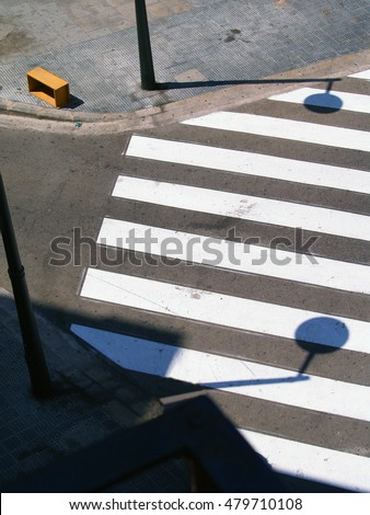 pedestrian crossing from above