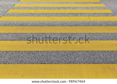 pedestrian crossing in yellow - stock photo