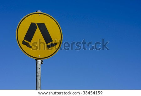 pedestrian crossing sign - stock photo