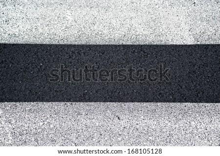 Pedestrian crossing, zebra traffic walk way on asphalt road, top view - stock photo