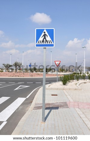 Pedestrian Crosswalk Traffic sign Street Stop Sign Triangle in Europe