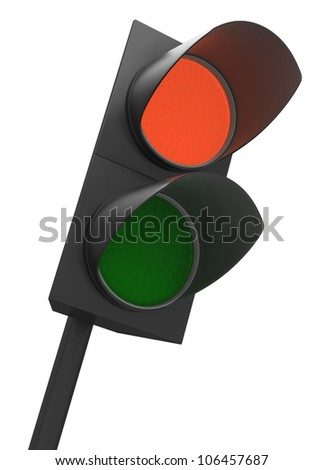 Pedestrian lights with red or Stop turned on