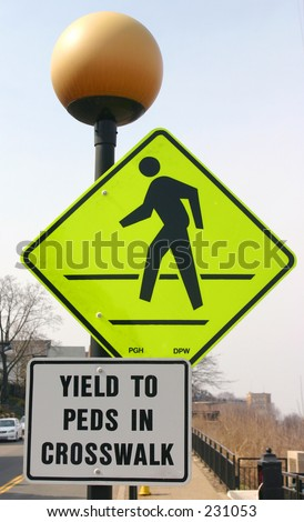 Pedestrian sign. - stock photo