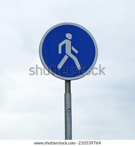 Pedestrian sign close up - stock photo