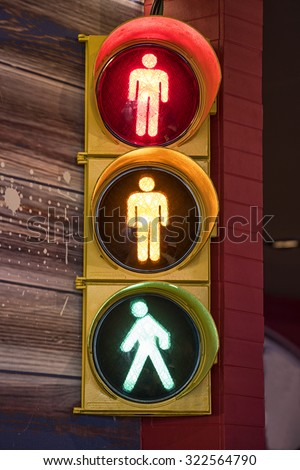 Pedestrian traffic light - stock photo