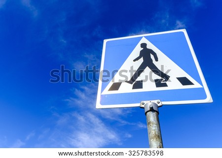 Pedestrian transit symbol - stock photo