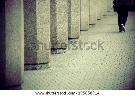 Pedestrian walk in street in London. - stock photo
