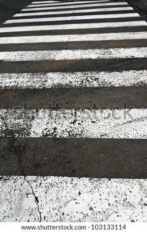 Pedestrian zebra crossing background - stock photo
