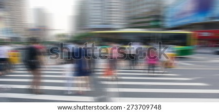 Pedestrians at the zebra crossing