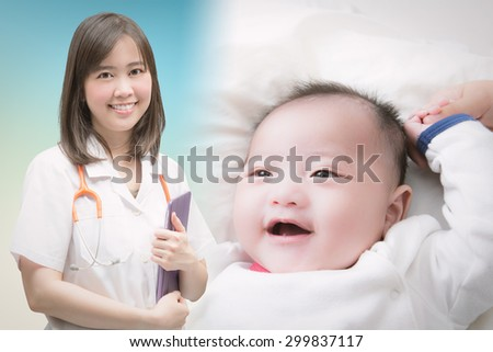 pediatrist with baby boy smiling
