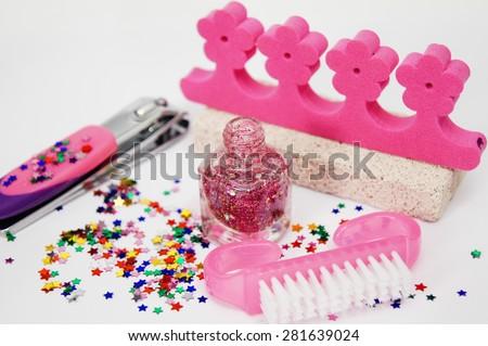 pedicure set - stock photo