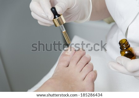 Pedicure treatment - stock photo