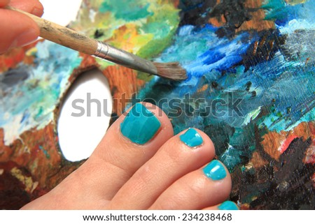 pedicure (working with nails) - stock photo