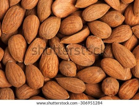 Peeled almonds - stock photo