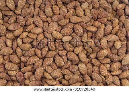 Peeled almonds closeup. For vegetarians - stock photo