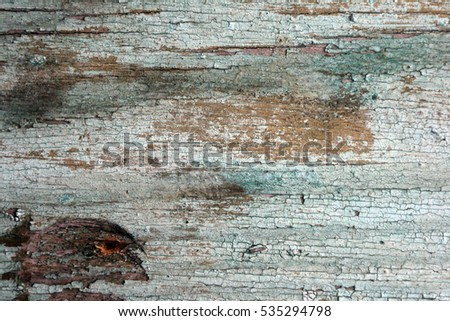 Peeled paint on wood as a background