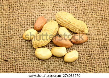 Peeled Peanuts - stock photo