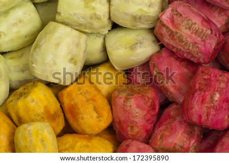 Peeled prickly pear - stock photo