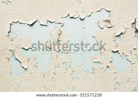 Peeling paint on a metal surface - stock photo