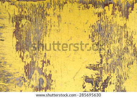 Peeling paint on a  wooden wall background - stock photo