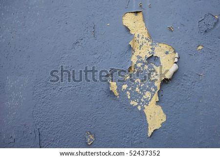 Peeling paint on an old  house - stock photo