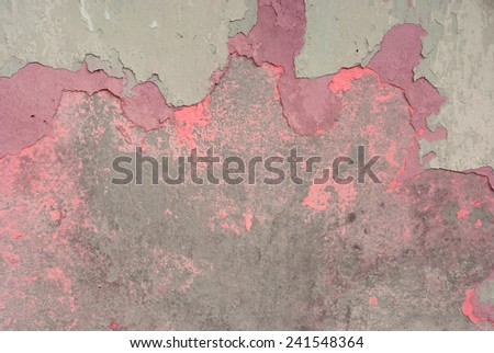 Peeling paint on old wall background