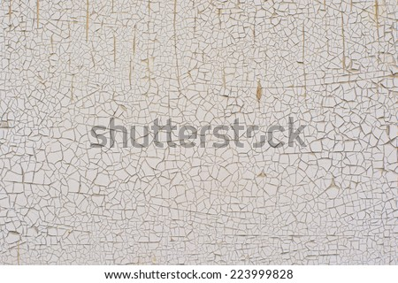 Peeling paint on wall seamless texture. Pattern of rustic material. - stock photo