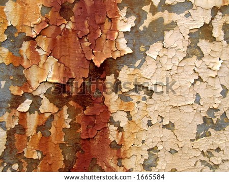peeling rusty paint