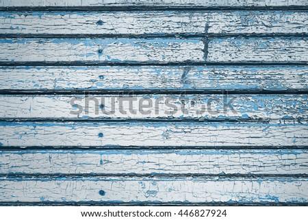 Peeling walls of old house. - stock photo