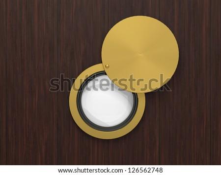 peephole - stock photo