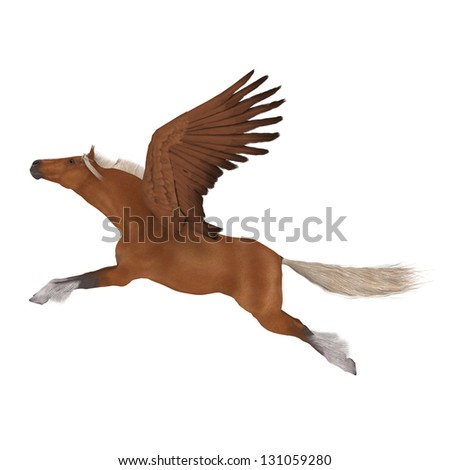 Pegasus - stock photo
