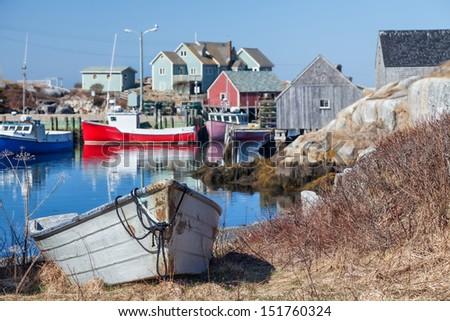 Peggy's Cove, the small village on Nova Scotia's coast. - stock photo