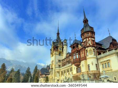 Peles castle, Sinaia, Romania - stock photo