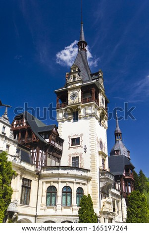 Pelesh Castle in Sinaia , Romania