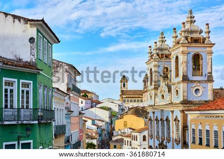 Pelourinho - Salvador Bahia - Brazil  - stock photo
