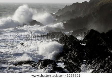 Pembrokeshire Coastline, Wales - stock photo
