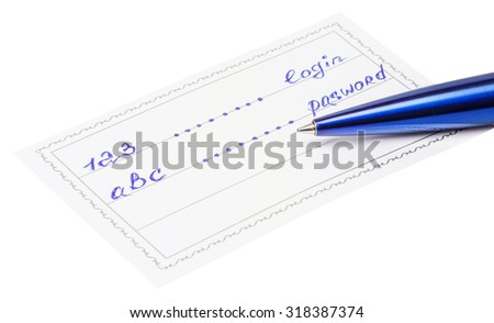pen and badge with the inscription 123 and abc isolated on a white background