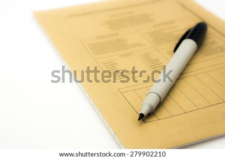pen and book - stock photo