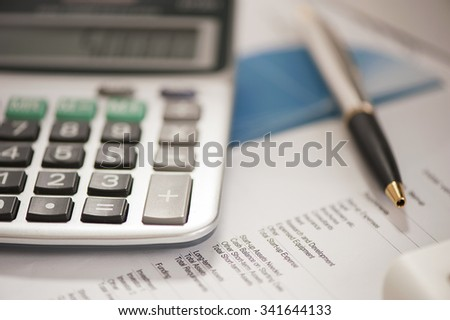 Pen and calculator