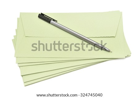 pen and cover isolated on a white