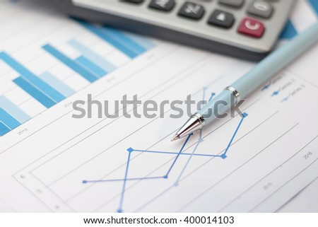 pen and financial document