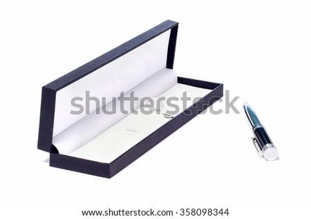 Pen and pen box - stock photo