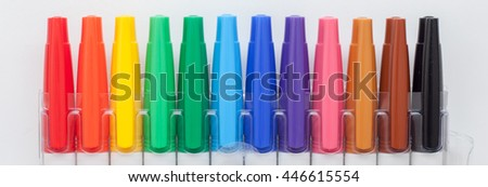 Pen color on white backgound, Pen color isolated