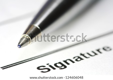 pen for signature - stock photo